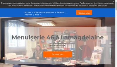 Site internet de Menuiserie 46