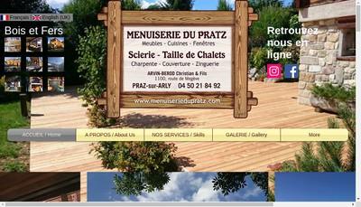 Site internet de Menuiserie du Pratz