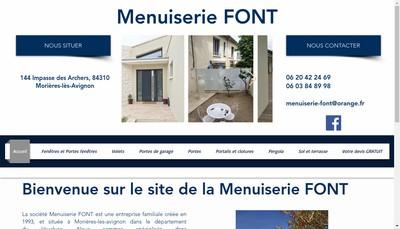 Site internet de Menuiserie Font