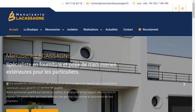 Site internet de Menuiserie Lacassagne