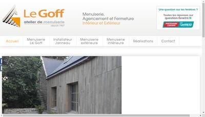 Site internet de Atelier de Menuiserie-Espace-le Goff