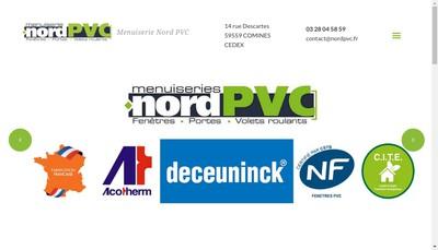 Site internet de Menuiserie Nord Pvc