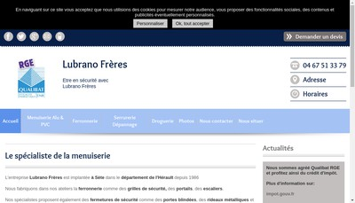 Site internet de Lubrano Freres