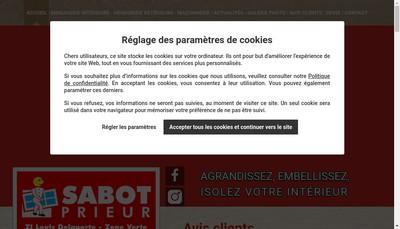 Site internet de Menuiserie Sabot Prieur