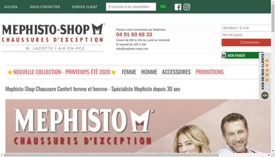 Site internet de Chaussures de Provence