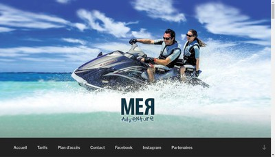 Site internet de Mer Adventure