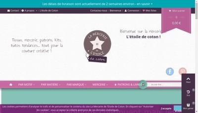 Site internet de La Mercerie de l'Etoile de Coton