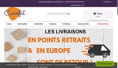 Site internet de Tissus Carefil