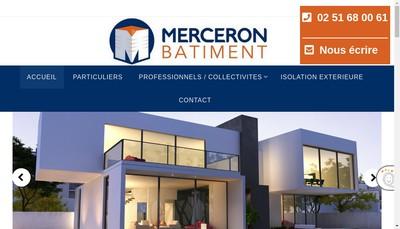 Site internet de Merceron-Batiment