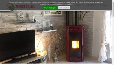 Site internet de Merci Soleil