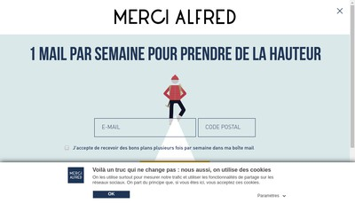 Site internet de Merci Alfred