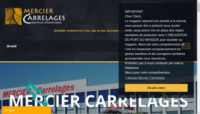 Site internet de Mercier Carrelages