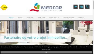 Site internet de Agence Immobiliere Mercor