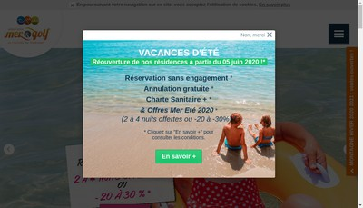 Site internet de Mer et Golf City Bordeaux