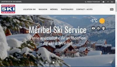 Site internet de Meribel Ski Service