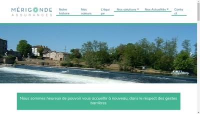 Site internet de Merigonde Assurances