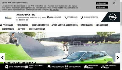 Site internet de Garage Merino Sporting