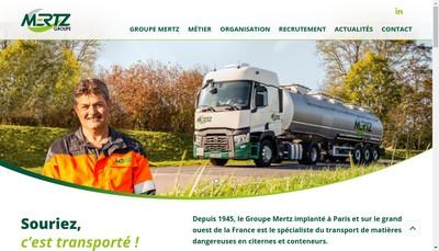 Site internet de Transports Mertz