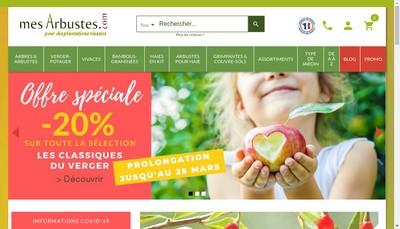 Site internet de Mesarbustes Com