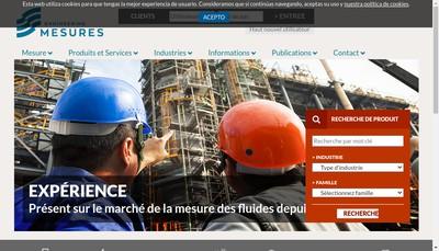 Site internet de Engineering Mesures