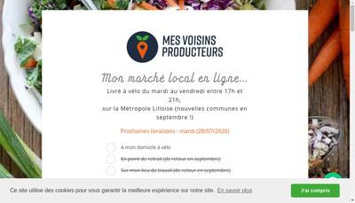 Site internet de Mes Voisins Producteurs