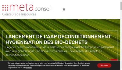 Site internet de Meta Conseil
