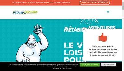 Site internet de Metabief Aventure