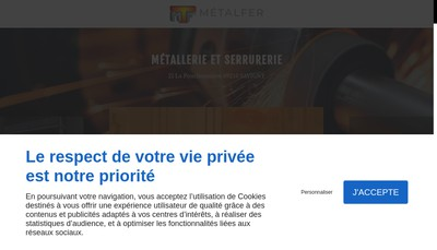 Site internet de SARL Metalfer