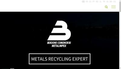 Site internet de Boone Comenor Metalimpex