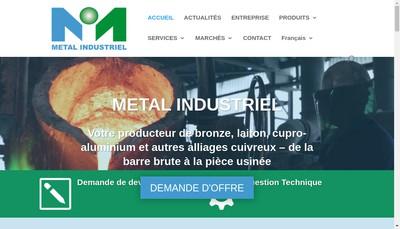 Site internet de Metal Industriel