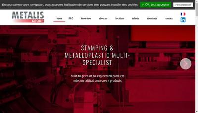 Site internet de Metalis Holding