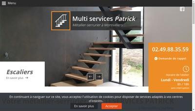 Site internet de Multi Services Patrick