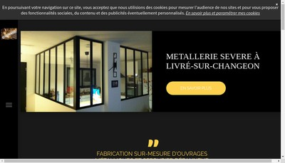 Site internet de Metallerie Severe