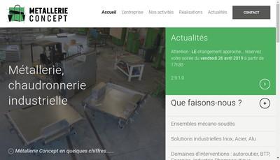 Site internet de Metallerie Concept