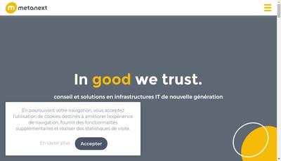 Site internet de Metanext