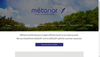 Site internet de Metanor