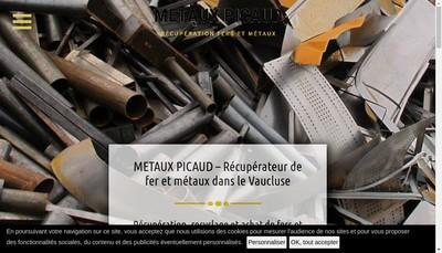 Site internet de Metaux Picaud SARL