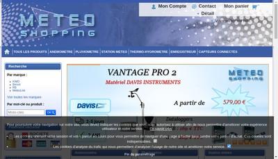 Site internet de Meteo Concept - Meteo Bretagne - Meteo Shopping