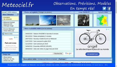 Site internet de Meteociel