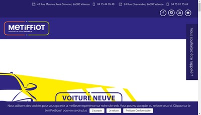 Site internet de Carrosserie Maneval