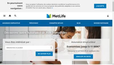 Site internet de Metlife Solutions