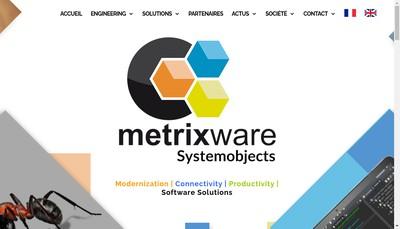 Site internet de Metrixware - Systemobjects