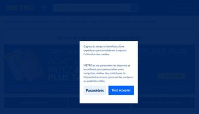 Site internet de Boucherie du Metro