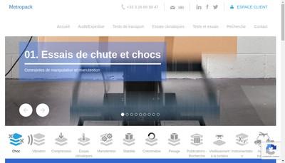 Site internet de Metropack