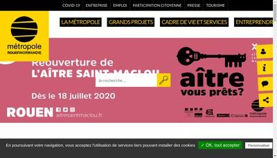 Site internet de Semri Metropole Rouen