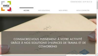 Site internet de Metz Techno'Pole