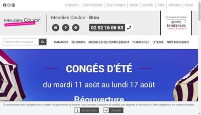 Site internet de Meubles Couloir