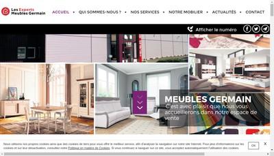 Site internet de Meubles Germain