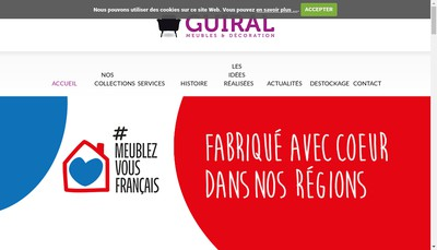 Site internet de Meubles Guiral