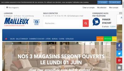 Site internet de Robert Mailleux Fils SA